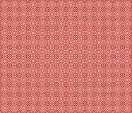 Geometric Red Background. Red Background with white geometric repeated pattern for use in website wallpaper design, presentation, desktop, invitation or brochure Stock Illustration