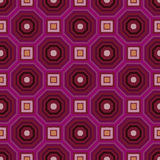 Geometric red , black and pink pattern Stock Photography