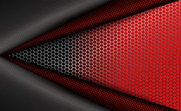 Geometric red corrugated background with metal grille. Geometric red corrugated abstract background with metal grille Royalty Free Stock Image