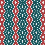 Geometric red and green retro seamless pattern Royalty Free Stock Photo