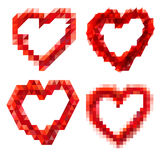Geometric red heart Stock Images