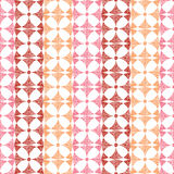 Geometric red ikat stripes seamless pattern Royalty Free Stock Image
