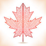 Geometric red leaf. Stock Image
