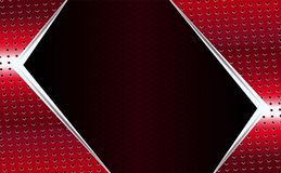 Geometric red mesh background with a white arrow shape. Geometric abstract red mesh background with a white arrow shape royalty free illustration