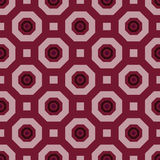 Geometric red and pink pattern Royalty Free Stock Images