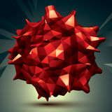 Geometric red polygonal structure, modern science and technology Royalty Free Stock Photo