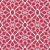 Geometric red seamless background. Pale red pattern. For wallpapers, textile and fabrics Royalty Free Stock Photo
