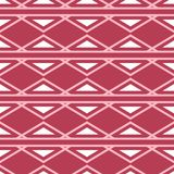 Geometric red seamless background. Pale red pattern. For wallpapers, textile and fabrics Stock Images