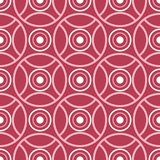 Geometric red seamless background. Pale red pattern. For wallpapers, textile and fabrics Royalty Free Stock Image