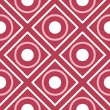 Geometric red seamless background. Pale red pattern. For wallpapers, textile and fabrics Stock Photos