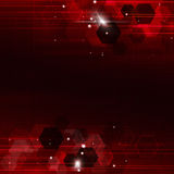 Geometric Red Technology Background Royalty Free Stock Image