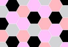 Geometric repeating pattern with hexagon shapes in pastel pink Royalty Free Stock Photos