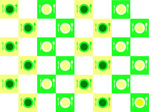 Geometric repeating pattern on the kitchen theme Stock Images