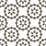 Geometric repeating vector ornament with black stripes. Stock Photos
