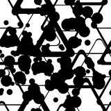 Geometric repetitions. Seamless abstract black geometric pattern Stock Image