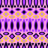 Geometric retro abstract seamless pattern on pink Royalty Free Stock Photos
