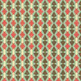 Geometric Retro Pattern. Vintage seamless vector pattern with geometric elements Royalty Free Stock Photography