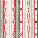 Geometric Retro Pattern. Vintage seamless geometric vector pattern with stripes Stock Images