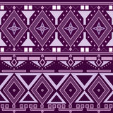 Geometric retro purple abstract seamless pattern Royalty Free Stock Photos
