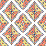 Geometric rhombus. Seamless vector pattern. Abstract ethnic colorful design. Stock Photo