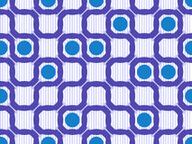Geometric ring seamless pattern Royalty Free Stock Photography