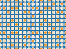 Geometric ring seamless pattern Royalty Free Stock Image