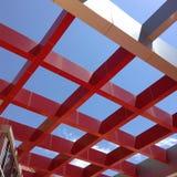 Geometric roof stock photo