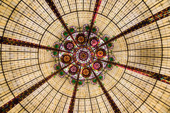 Geometric Rotunda. View of geometric patterns of a glass rotunda, Las Vegas, Nevada stock photo