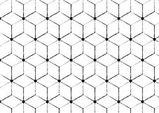 Geometric rough seamless pattern Stock Images
