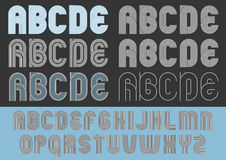 Geometric round lines typeface Royalty Free Stock Photos