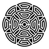 Geometric round ornament Royalty Free Stock Image