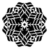 Geometric round ornament Stock Photo