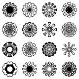 Geometric round ornaments collection Royalty Free Stock Photo