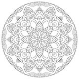 Geometric round pattern mandala. Ethnic decoration for coloring vector illustration