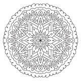 Geometric round pattern mandala. Ethnic decoration for coloring royalty free illustration