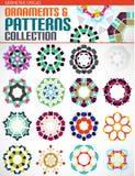 Geometric round shapes set for backgrounds Stock Photo