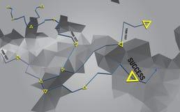 Geometric rumpled triangular Stock Photos