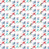 Geometric runner sport rainbow pattern royalty free illustration
