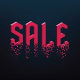 Geometric sale text Royalty Free Stock Photo