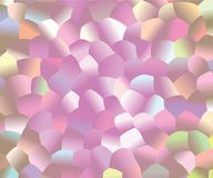 Creative abstract background. Light Pink pattern with colored spheres. Vector clip art. Geometric sample of repeating circles in halftone style. Beautiful vector illustration