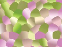 Creative  abstract background. Light Green, Light Pink mosaic  pattern with colored spheres. Vector clip art. Geometric sample of repeating circles in halftone Stock Photos