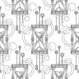 Geometric sandglass seamless pattern Stock Photo