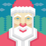 Geometric Santa Claus. In vector format for different designed works Stock Photography