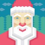 Geometric Santa Claus Stock Photography