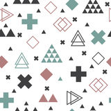 Geometric scandinavian seamless pattern. Textile tribal. Background Stock Images