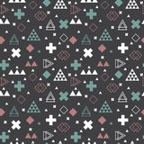 Geometric scandinavian seamless pattern. Tribal background. Vector Royalty Free Stock Photo