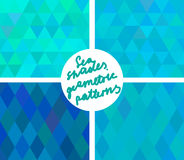 Geometric sea shades pattern set Royalty Free Stock Photography