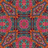 Geometric seamess pattern doodle design. Abstract geometric mandala vintage ethnic seamless pattern ornamental Stock Photo