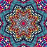 Geometric seamess pattern mosaic. Abstract geometric mandala vintage ethnic seamless pattern ornamental Royalty Free Stock Photography