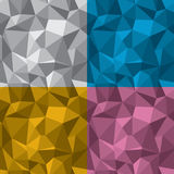 Geometric Seamless Background. Abstract geometric seamless background, 4 colors included, flat-shaded 3D. EPS 8 vector illustration Stock Photos